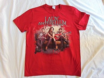 Lady Antebellum Own the Night Concert Tour Dark Red T Shirt Unisex Size M Red