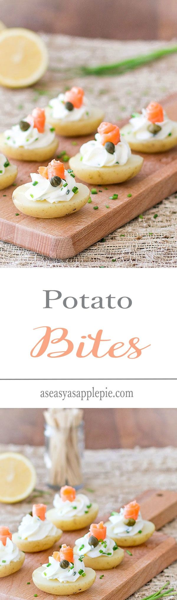 Potato bites with cream cheese and smoked salmon- an easy and delicious appetizer!