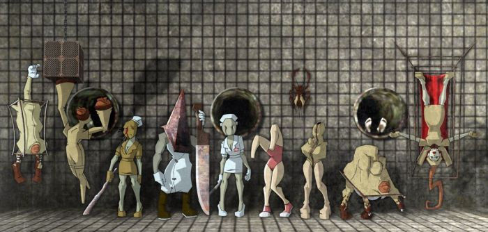 SilentHill 2: Cast of monsters by gilamasan