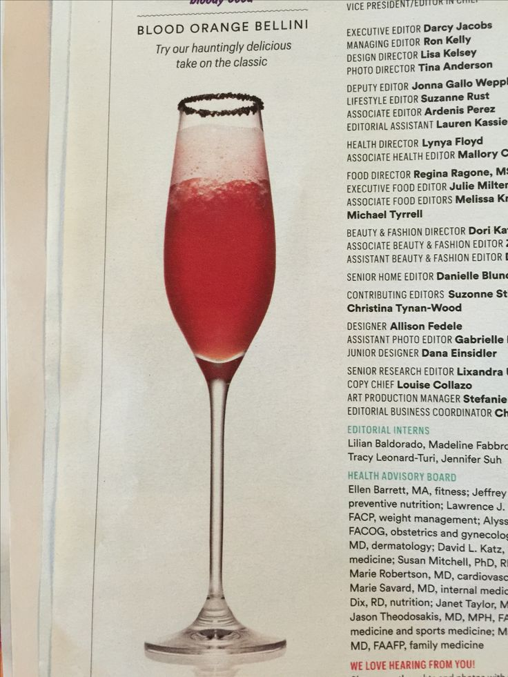 BLOOD ORANGE BELLINI from Family Circle Oct/Nov 2016     Fill ice cube Tray with 100% pure blood orange (aliseo).  Freeze.    Blender:  frozen ice cubes plus 1 1/2 cups chilled blood orange juice.  Pulse till smooth.  Pour 1/3 of it into champagne flute. Add sparkling Rose Wine.   (Black sugared rim).
