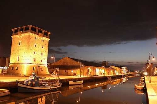 Torre S. Michele. An ancient guard tower to protect the harbour. (Cervia, Italy)