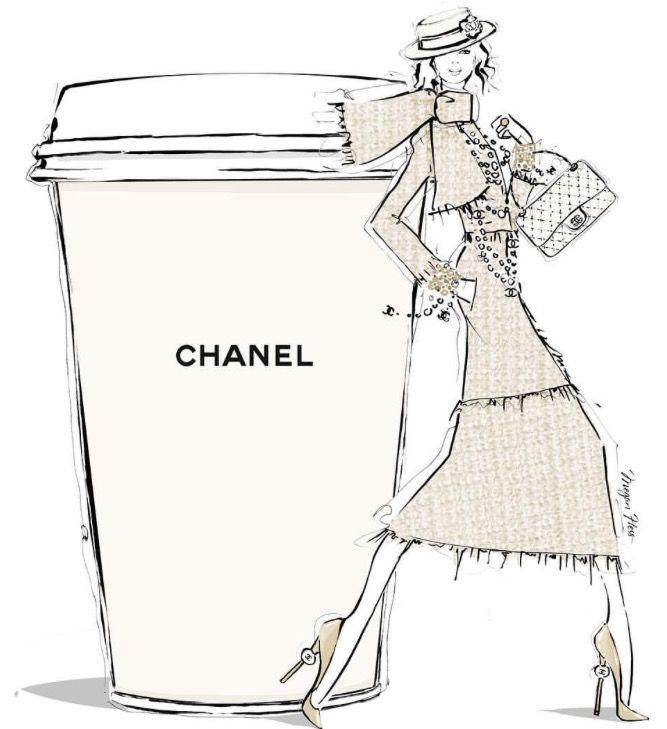Chic Chanel Coffee // Megan Hess.