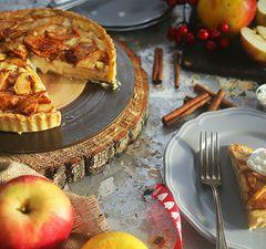 Sajttorta + almás pite = almás krémsajtos pite