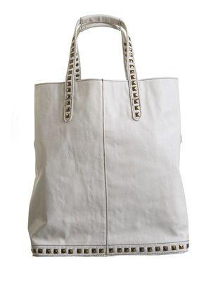 Barfota spring/summer 2014 Everyday bag with rivets cream www.barfota.no