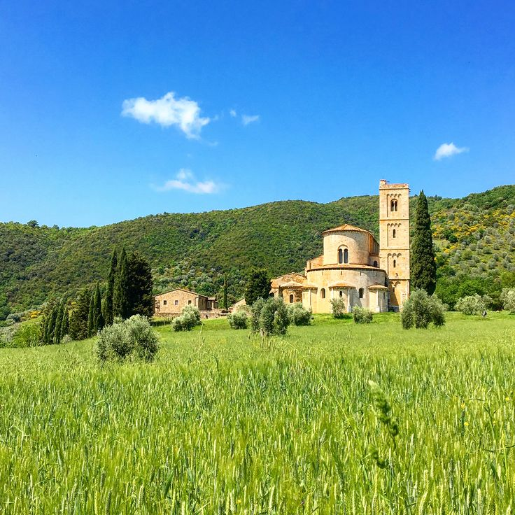 The beautiful Abbey of Sant'Antimo