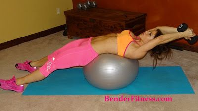 Melissa Bender Fitness: Stability Ball Workout. Plus over 375 other FREE home workouts, recipes and tips for healthy living! Get in shape and burn fat at home!