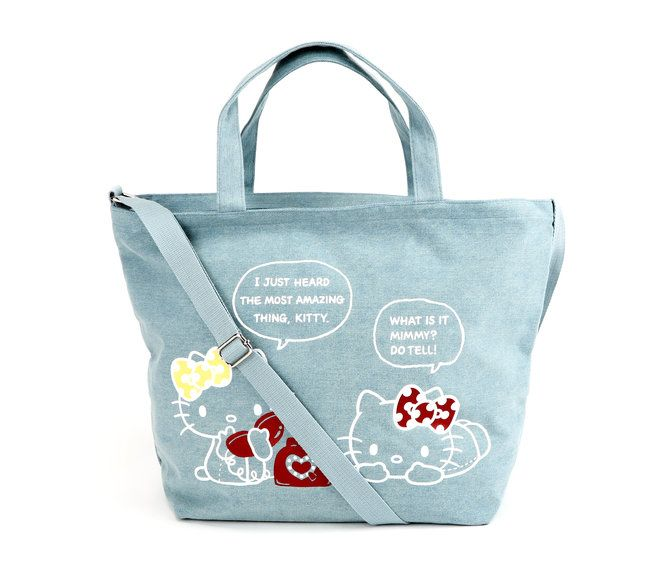 Hello Kitty & Mimi Large Canvas Tote Bag: Sisters