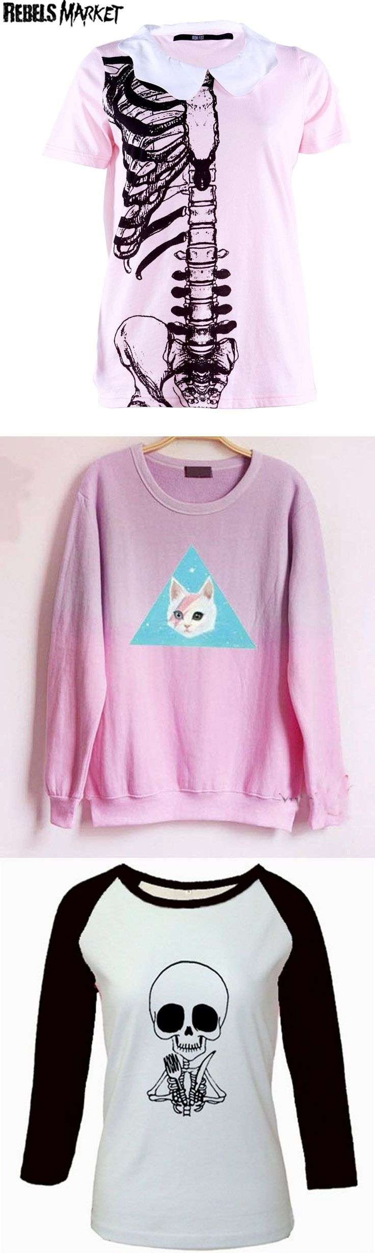 Shop grunge pastel goth tops at RebelsMarket.