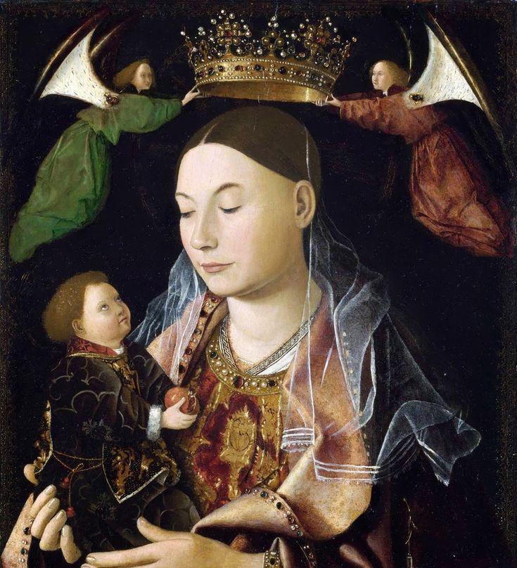 Antonello da Messina ( Messina   1430-1479) Madonna Salting 1460s (43x34 tempera su pannello) National Gallery Londra