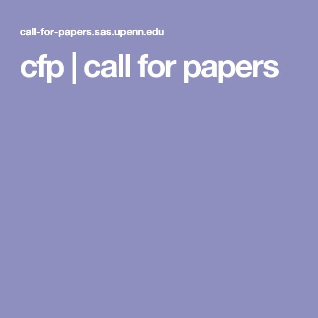 cfp | call for papers