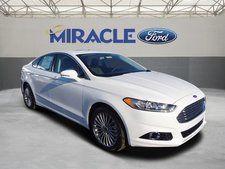 New 2016 Ford Fusion Titanium White Sedan