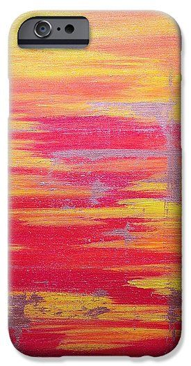 "iPhone Cases & Galaxy Cases via abstract art ""Tequila Sunset"" by Lynn…"