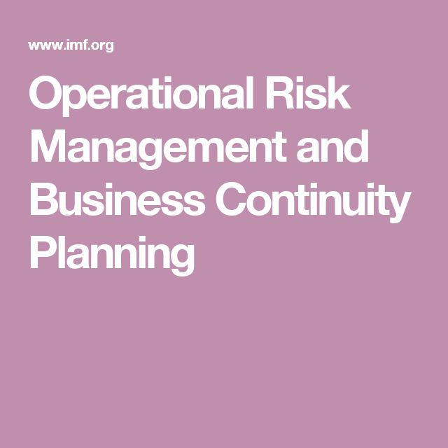Best 10+ Business Continuity Planning Ideas On Pinterest | Risk