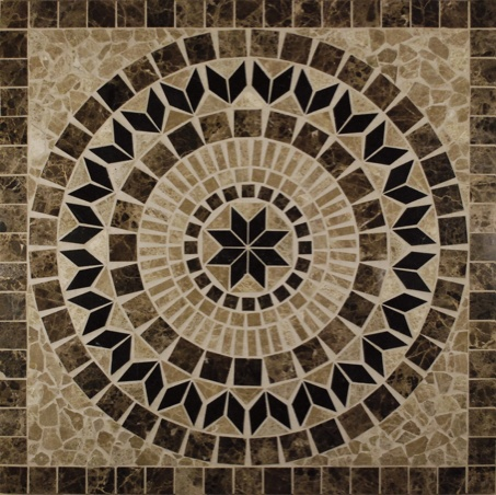 Helios 36 X 36 Square Marble Medallion