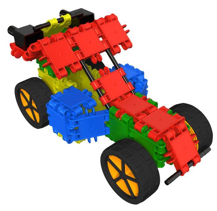 Ben je een waaghals? Bouw dan je eigen Buggy Racer van Clics. Het bouwplan ontdek je hier!