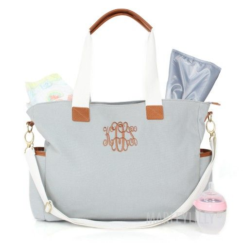 Monogrammed Diaper Bag by Milly Lilly ~ So Cute!