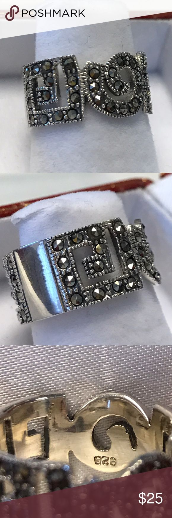 925 Sterling Silver Marquess High quality Jewelry Rings