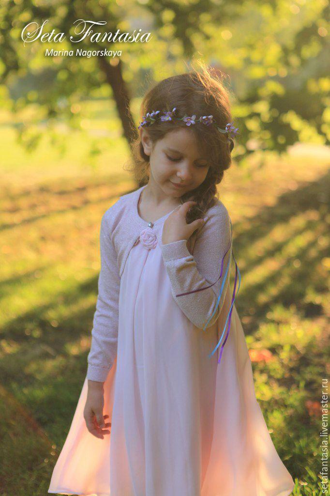 Купить Венок из фиалок для подружек невесты. Цветы из шелка. Цветы из ткани. - аксессуары для свадьбы