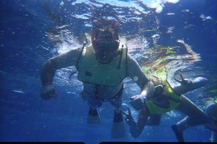 Snorkelling photobomb