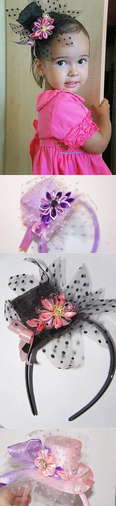 Шляпки-цилиндры для маленьких леди.. | Рукоделие-Канзаши-Вышивка Лентами. | Постила
