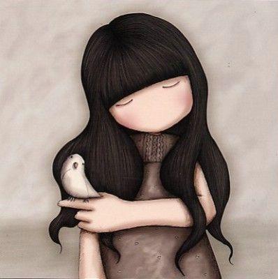 Petit oiseau sur le doigt