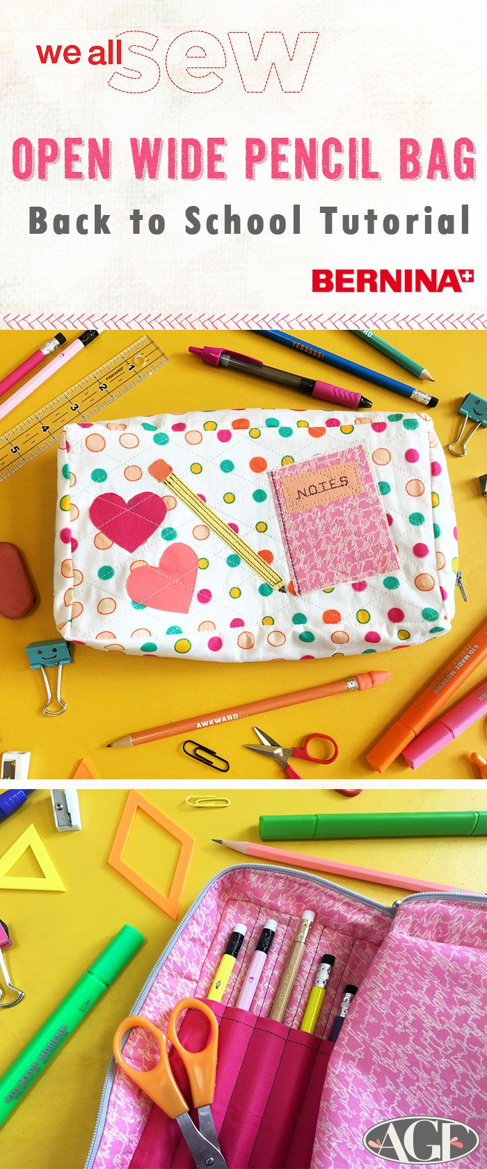 Back to School Sewing- Open Wide Pencil Bag Tutorial