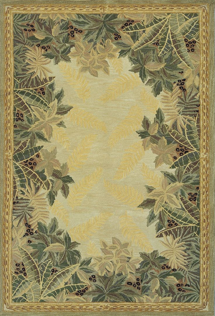 Murray Beige Tropical Area Rug
