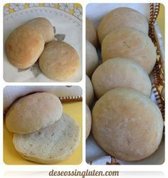 Bollitos de pan sin gluten con semillas de lino.
