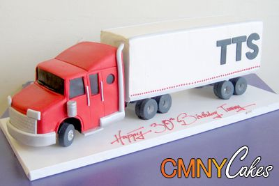 Semi Truck & Trailer Cake
