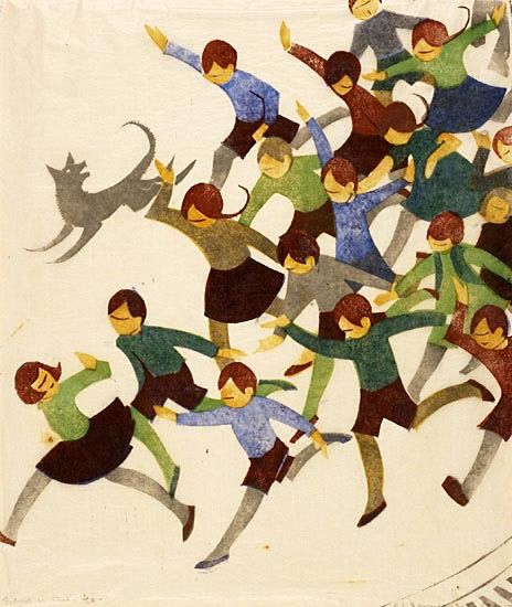 School is out by Ethel Spowers, 1936