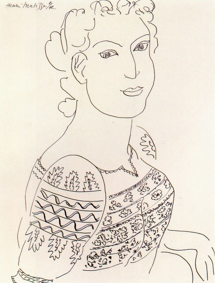 The Romanian Blouse by French painter Henri Matisse, 1942