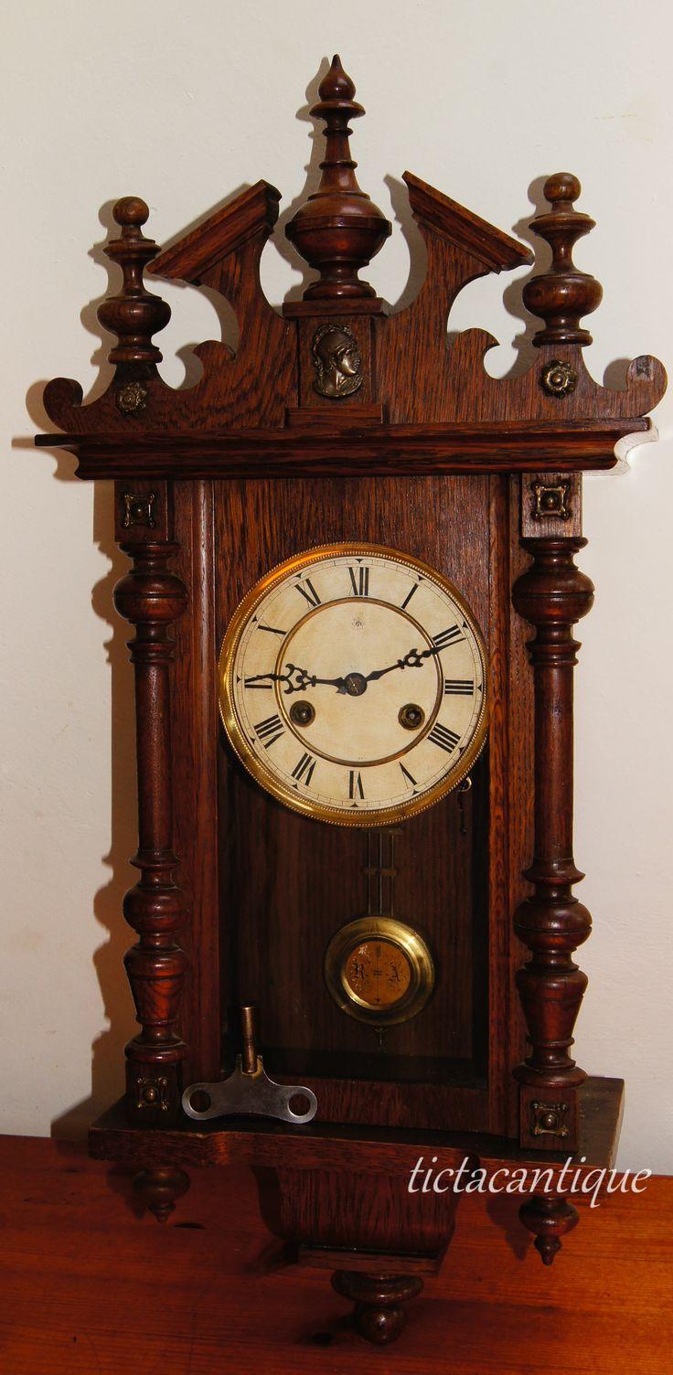 Vintage industrial clock double sided factory clock brilli 233 - Wall Clock Junghans Eberhard 1898