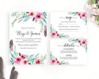 Minimal Wedding Invitation / Printable Wedding Invitation