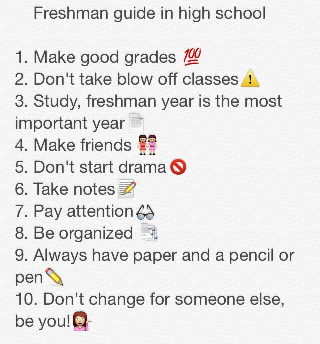 Incoming Freshman Tips While In High School
