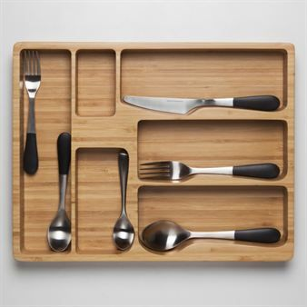 The stylish flatware tray Stockholm is designed by Jesper Ståhl for Design House Stockholm. The tray is made of bamboo and it is perfect to storage your finest cutlery in, it is both stylish and practical at the same time. Combine the tray with other trendy products from Design House Stockholm.
