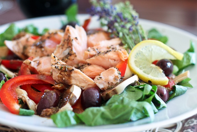 Quick Leftover Salmon Salad by The Healthy Foodie http ...