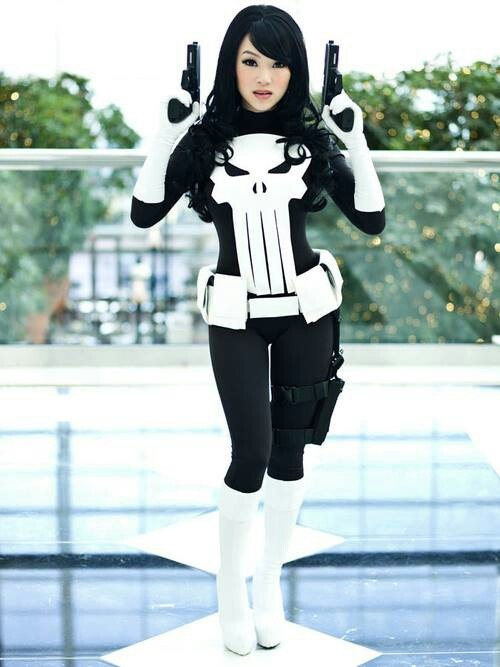Woman The Punisher costume idea
