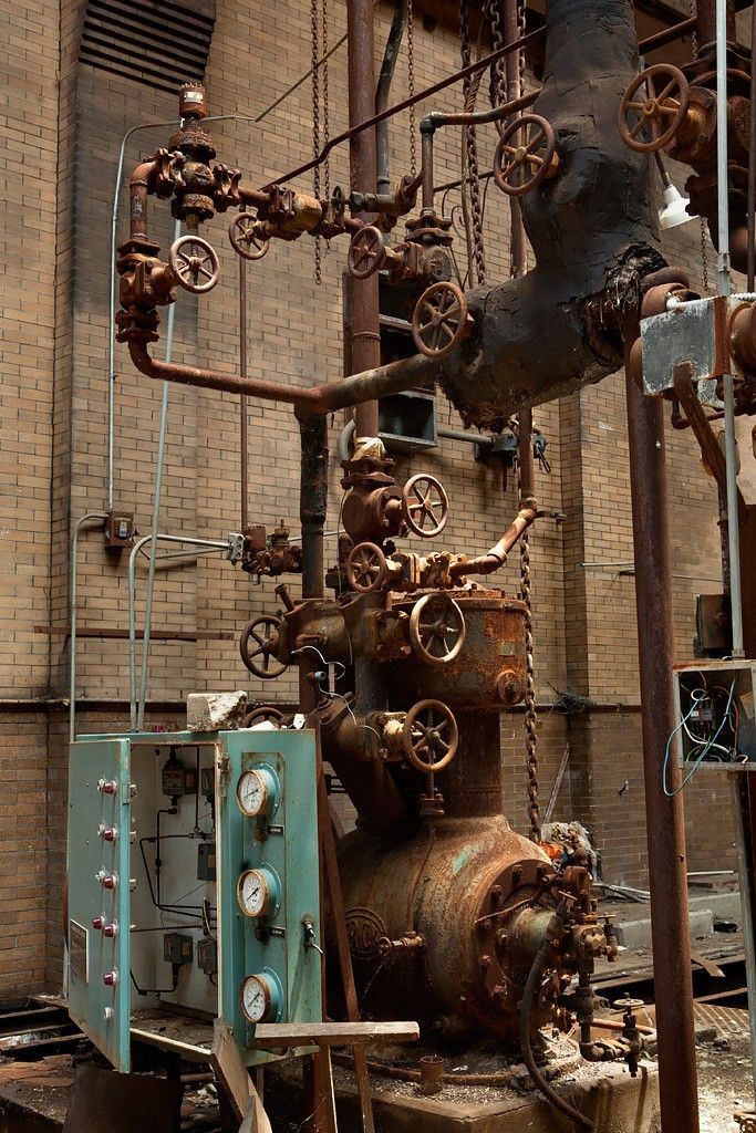 That's a lot of valves. Abandoned Armour Meat Packing Plant, East St. Louis, IL