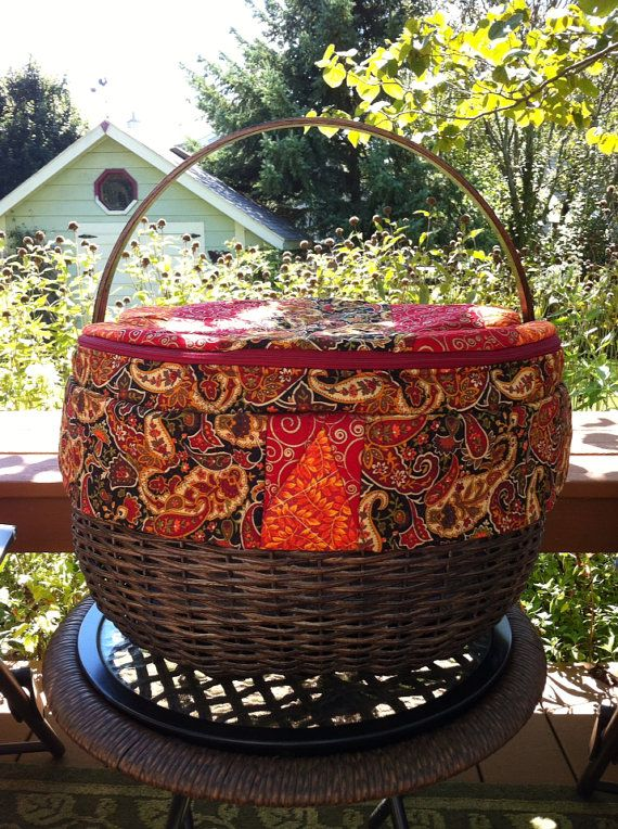 Insulated Handwoven Hand Quilted Traditional Picnic Basket