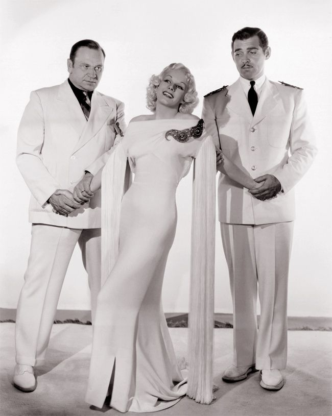 Wallace Beery, Jean Harlow and Clark Gable   by Vintage-Stars