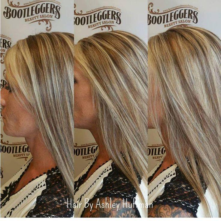 Champagne Blonde Highlights With Brown Sugar Lowlights  #joicohaircolor #bootleggersbeautysalon #burlingtonncsalon #getyourshineon #blondehighlightsandlowlights