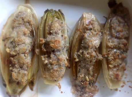 Caramelized Endive with Blue Cheese and Walnuts