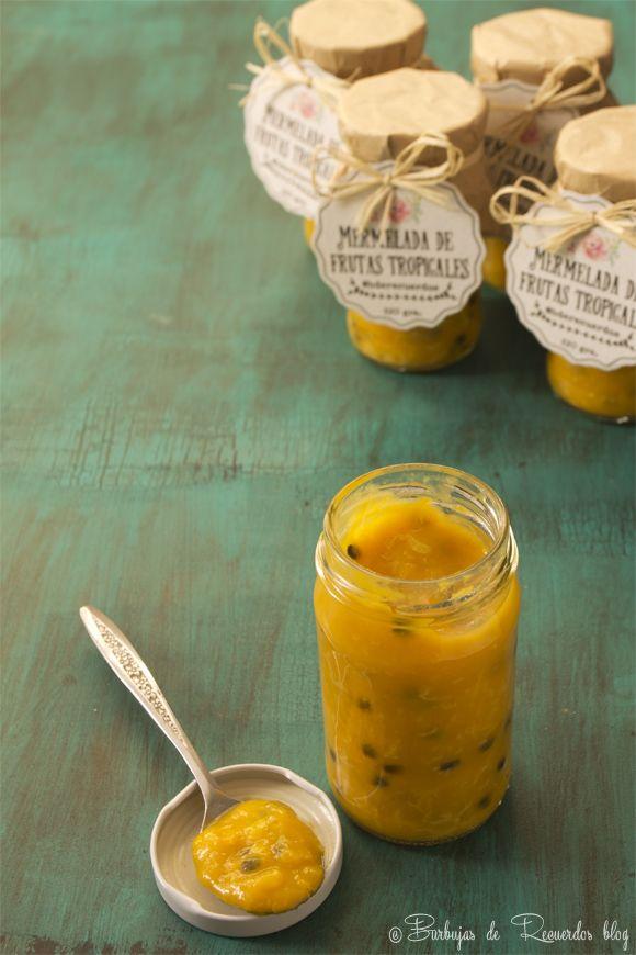Mermelada de frutas tropicales: mango, maracuya y banana lla quiero probar