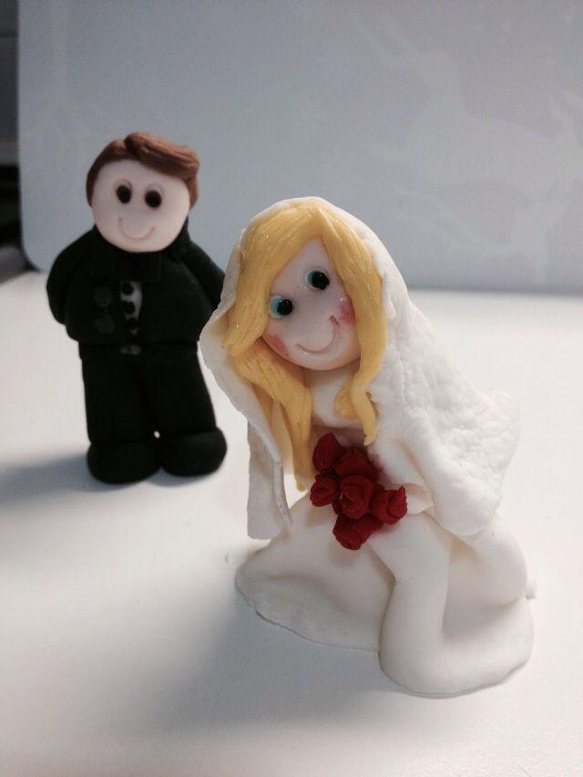 Gli sposi topper cake pasta zucchero