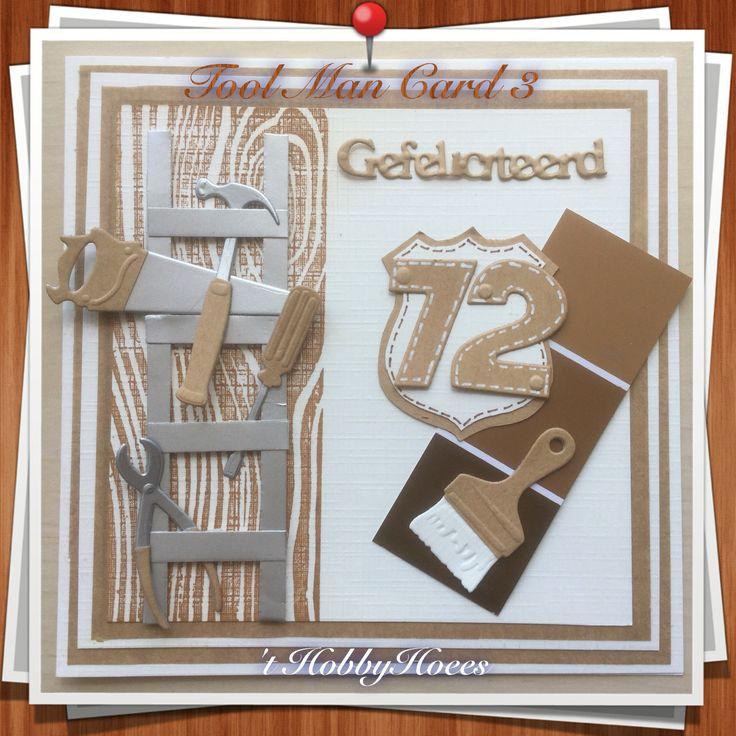 Tool Man Card 3. 't HobbyHoees 18 april 2016                                                                                                                                                                                 Mehr