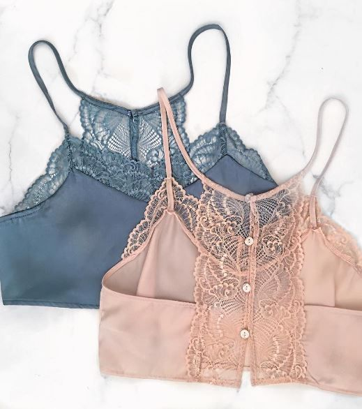 The perfect amount of sexy in one crop top. STYLIST TIP: Pair this Satin Lace Slate top with high waisted shorts, a simple dainty necklace, and your favorite gladiator wrap-up sandals. DETAILS: - 40% - lingerie and sleepwear, fine lingerie, womens lingerie stores *sponsored https://www.pinterest.com/lingerie_yes/ https://www.pinterest.com/explore/intimates/ https://www.pinterest.com/lingerie_yes/plus-size-lingerie/ http://www.figleaves.com/us/lingerie/
