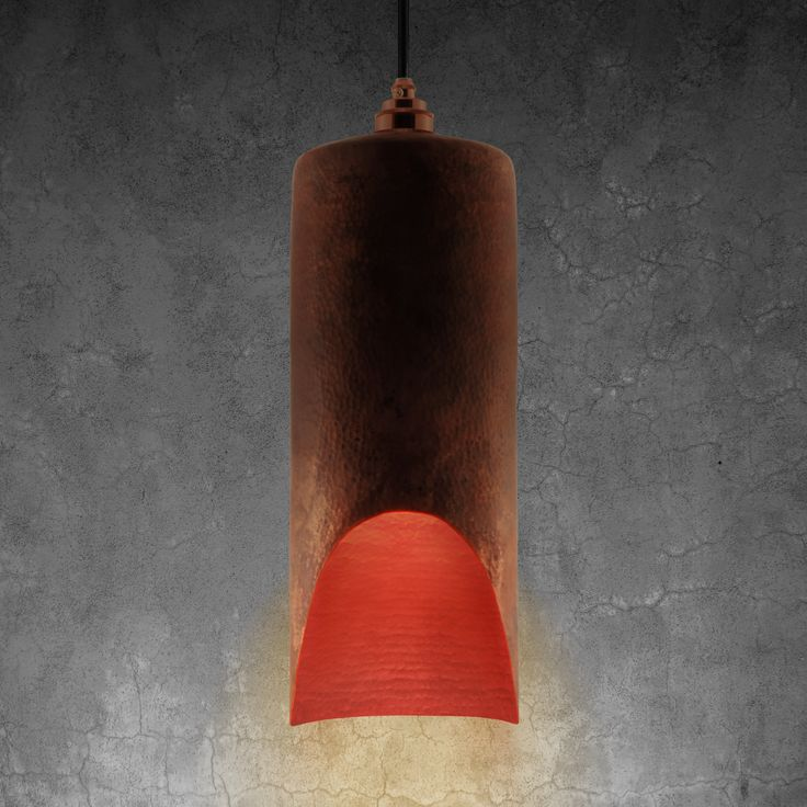 The Pipa: Grande copper pendant lamp in natural finish by Luminosa ™