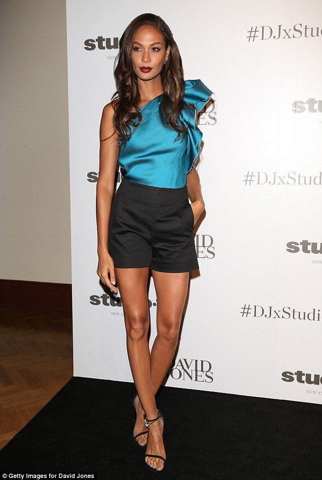 Never-ending story: Puerto Rican beauty Joan Smalls showed just why she's one of the highest paid models in the world as she posed on the red carpet at the Studio W launch at department store David Jones on Thursday