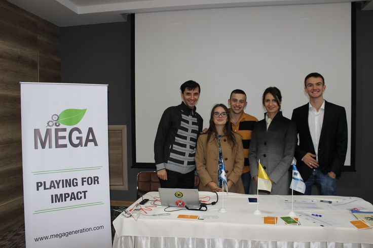 After the launch of the MEGA Impact 2015 Championship in Chisinau, Moldova.
