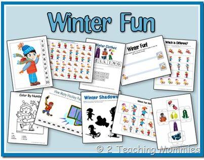 Winter Fun Preschool Printable Pack